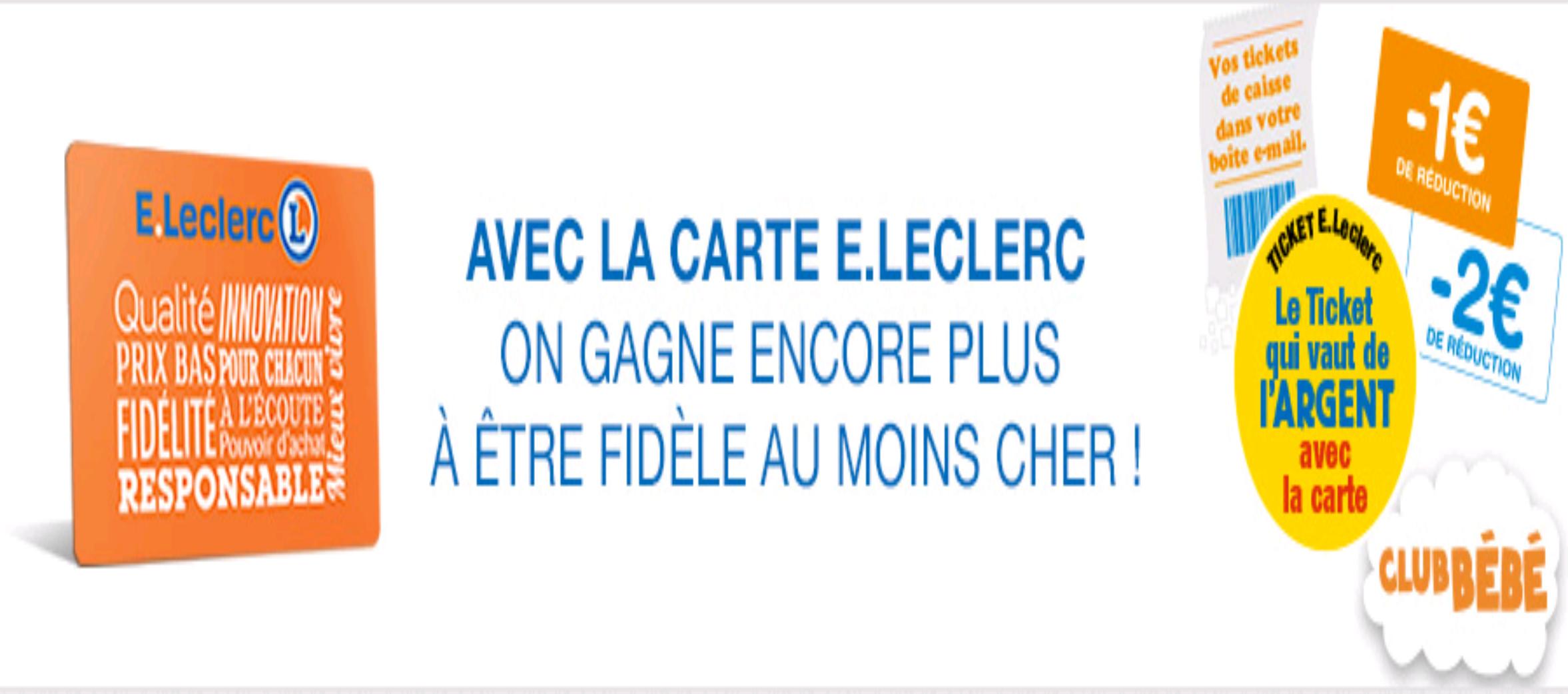 Carte Leclerc.Carte De Fidelite E Leclerc